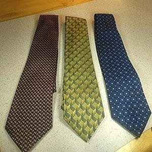 3 silk mens ties bundle